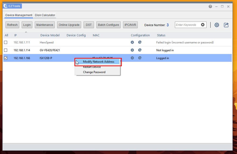 UniView - Configure NVR for network using EZTools (Windows
