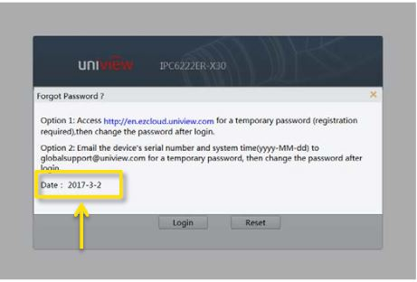Uniview Password Generation Worldeyecam Support For