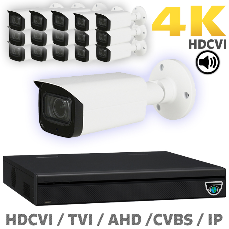 16 8MP HDCVI Camera Kits