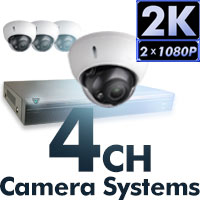 4MP 2K 4 CH Camera Systems