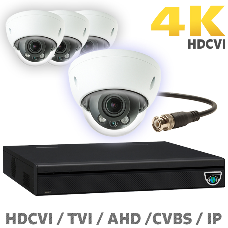 4 8MP HDCVI Camera Kits