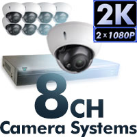 4MP 2K 8 CH Camera Systems