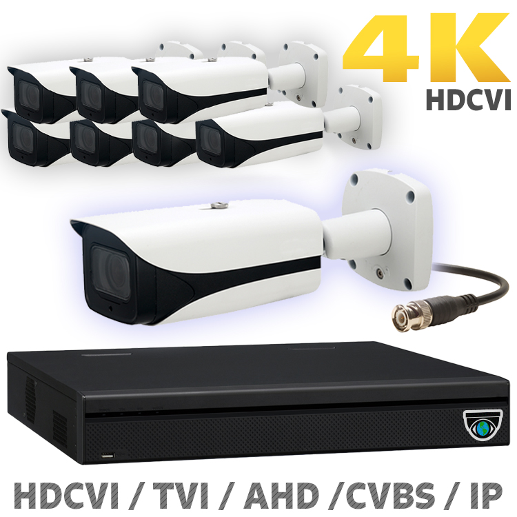 8 8MP HDCVI Camera Kits