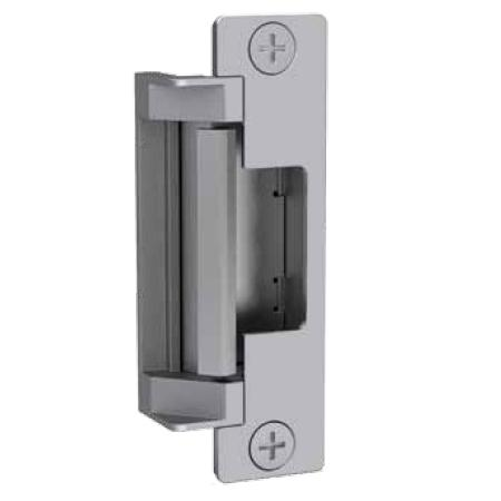 4500 1224 630 lbsm vave hes 4500 series electric strike low profile heavy duty fire rated failsecure 1224vdc satin stainless steel finish