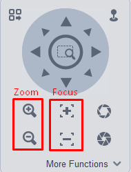 Zoom and Focus Controls VMS
