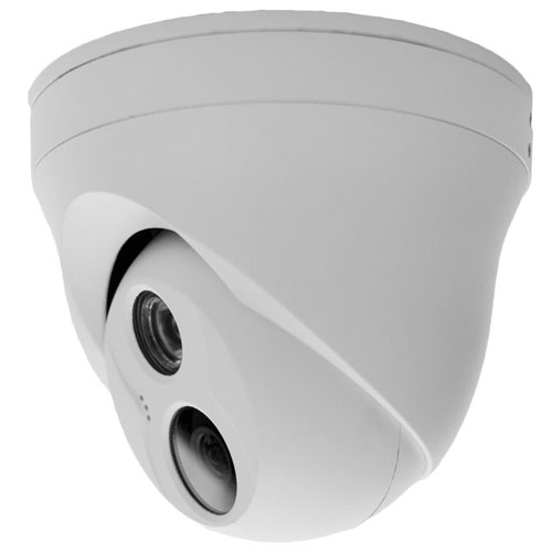 3 MP 3.6mm Fixed Lens with Built in Mic IP Dome Camera - Side