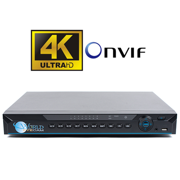 16Ch Super 4K Network Video Recorder with 8 PoE+