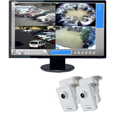 Four Camera Wireless 1.3 Megapixel IP Camera Bundle - GV-CBW-4CH-BUNDLE