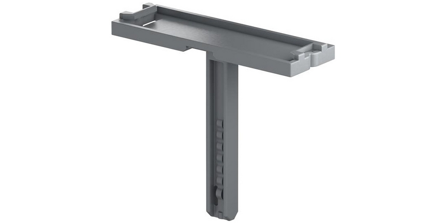 Terminal Block Marker, 10 MM Width x 29.5 MM Depth x 31.8 MM Height, Polyamide Insulation, Dark Gray
