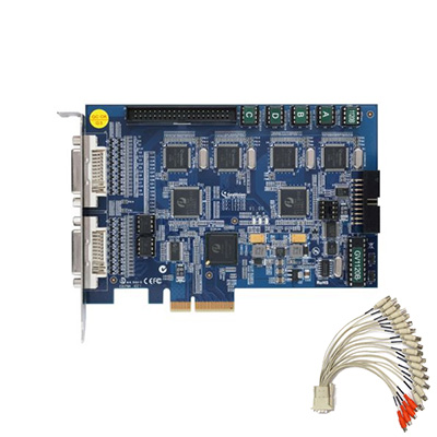 Geovision GV-1240B 16 Channel PCI Express Combo Digital Video Recording (DVR) Surveillance Card with version V8.5 Complete Webcam Software Suite Included