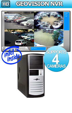 Entry Level HD GeoVision NVR: Supports 1 to 4 IP Megapixel Cameras NVR Network Video Recorder - Intel Dual Core