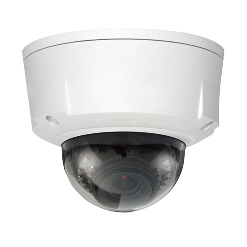 5 Megapixel Vandal Dome Camera, Triple Stream, Motorized 4-9mm Lens, IR Distance 20m, IP66, PoE