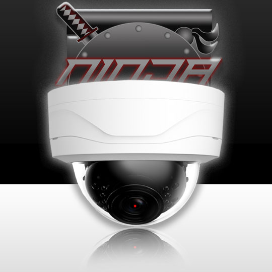 4 Megapixel IP Mini Dome Camera 3.6mm Lens  IP67 IK10 30ft. Night Vision (WEC-B3V241E-IR/28) (Ninja) (White)