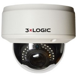 IP Camera, Vandal Dome, Indoor, Day/Night, H.264/MJPEG/MPEG4, 2048 x 1536 Resolution, 3 Megapixel, 32 Kbps to 16 Mbps, 12 Volt DC, 9.5 Watt