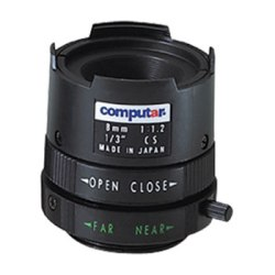 "CML8-MI Computar 1/3"" 8mm f1.2 Monofocal Manual Iris CS-Mount Lens"
