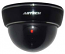 Fake Dummy Dome Security camera with Blinking LED - BLACK