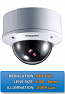 "Indoor/Outdoor SCC-B5393 Samsung 1/3"" Anti-Vandal 540TVL True Day/Night 3-Axis 2.5 - 6mm Vari-Focal Dome Camera"