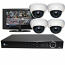 4 HD 1080p IR Dome HD-SDI DVR Kit for Business Professional Grade