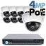 4MP IP PoE 8 Dome Camera Kit (IP2728)