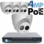 4MP IP PoE 4 Dome Camera Kit (IP5341EM)