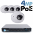4MP IP PoE 4 Wedge Dome Camera Kit (IP2828)