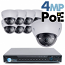 4MP IP PoE 8 Motorized Dome Camera Kit (IP41)
