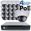 4MP IP PoE 16 Motorized Dome Camera Kit (IP41)