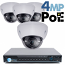 4MP IP PoE 4 Motorized Dome Camera Kit (IP41)