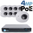 4MP IP PoE 8 Wedge Dome Camera Kit (IP2828)