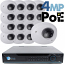 4MP IP PoE 16 Wedge Dome Camera Kit (IP2828)