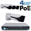 4MP IP PoE 4 Motorized Bullet Camera Kit (IP40)