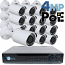 4MP IP PoE 16 Bullet Camera Kit (IP29)