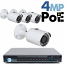 4MP IP PoE 4 Bullet Camera Kit (IP29)