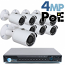 4MP IP PoE 8 Motorized Bullet Camera Kit (IP29)