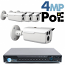 4MP IP PoE 4 Bullet Camera Kit (IP141D)