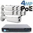 4MP IP PoE 8 Motorized Bullet Camera Kit (IP141D)