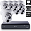 8 Ch 4K GeoVision H.265 DVR with 8 PoE Dome Cameras (EBD4700)