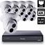 8 Ch 4K GeoVision H.265 DVR with 8 PoE Dome Cameras (EBD4700)