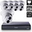 8 Ch 4K GeoVision H.265 DVR with 4 PoE Dome Cameras (EBD4700)