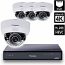 8 Ch 4K GeoVision H.265 DVR with 4 PoE Dome Cameras (EFD5101)