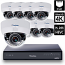 8 Ch 4K GeoVision H.265 DVR with 8 PoE Dome Cameras (EFD5101)