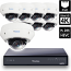 8 Ch 4K GeoVision H.265 DVR with 8 PoE Dome Cameras (EVD5100)