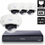 8 Ch 4K GeoVision H.265 DVR with 4 PoE Dome Cameras (EVD5100)
