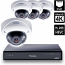 8 Ch 4K GeoVision H.265 DVR with 4 PoE Dome Cameras (VD5700)