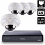 8 Ch 4K GeoVision H.265 DVR with 4 PoE Dome Cameras (VD4711)