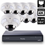 8 Ch 4K GeoVision H.265 DVR with 8 PoE Dome Cameras (VD4711)