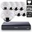 8 Ch 4K GeoVision H.265 DVR with 8 PoE Dome Cameras (VD5711)