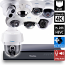 8 Ch 4K GeoVision H.265 DVR with 8 PoE Dome Cameras (2-Way Audio & Panoramic PTZ Options Available)