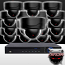 16CH IMAX NVR & Ninja 4 Megapixel IP Mini Dome Camera 16 Cam Kit