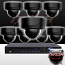 Ninja 4 Megapixel IP Dome Camera 8 CH Kit